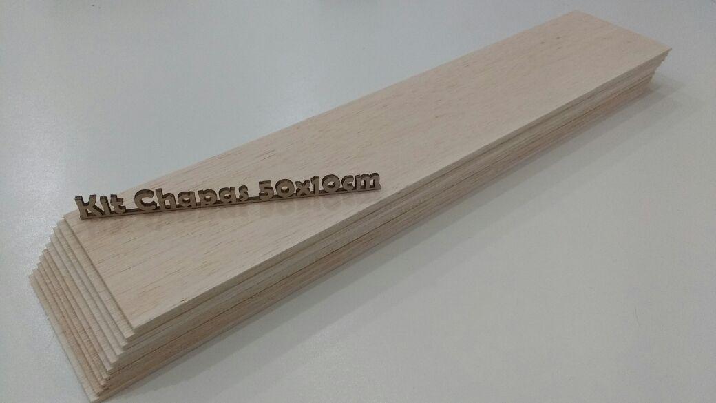 Madeira Balsa Maquetista 3,2x100x500mm kit com 10 und